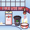 bathroom things icon/pixelart