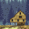 Winter is coming icon/pixelart