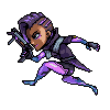 Overwatch Sombra icon/pixelart