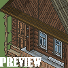 Village house icon/pixelart