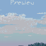 Picture about morning clouds icon/pixelart