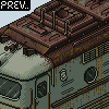 Soviet locomotive TEP10 icon/pixelart