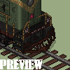 Soviet locomotive TE1 icon/pixelart