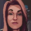 Portrait icon/pixelart