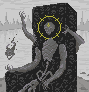 for in the abyss, he sits icon/pixelart