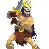 Barbarian idle icon/pixelart