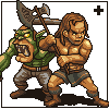 Orc vs human icon/pixelart