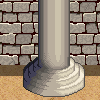 Castle Wall and Pillar icon/pixelart