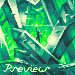 Green Shine icon/pixelart