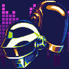 Daft Punk 1993�2021 icon/pixelart