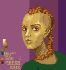 Ginger Punk Girl icon/pixelart