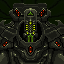 alien robot icon/pixelart