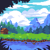 Peaceful icon/pixelart
