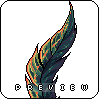 feather icon/pixelart