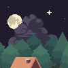 Forest icon/pixelart
