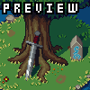 Forest Clearing icon/pixelart