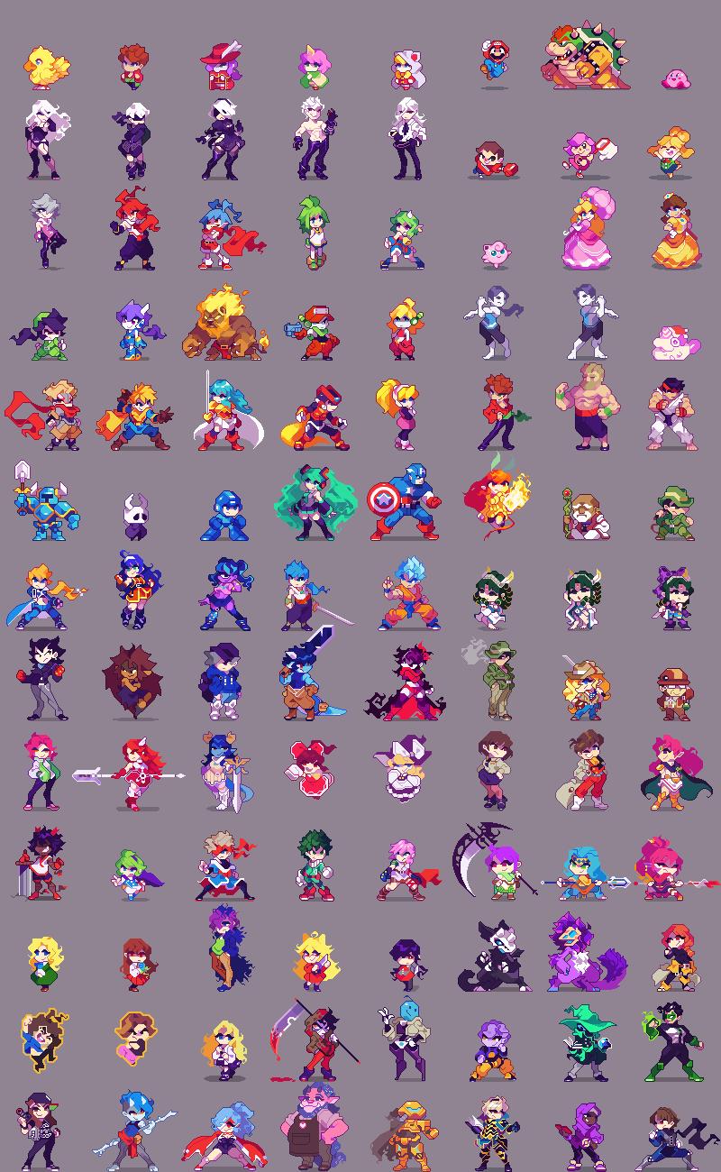100x100 characters/pixelart