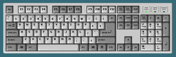 Yet another pixel keyboard