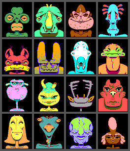 6-bit-4-colour aliens