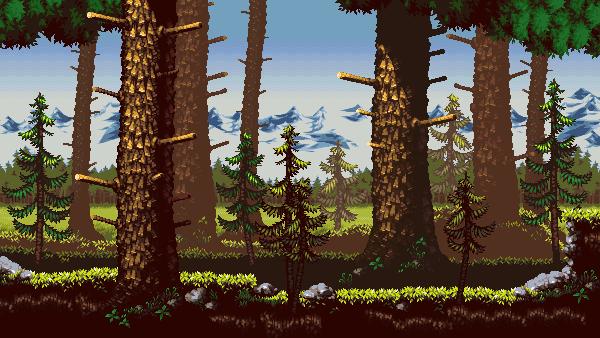 Alpine Woods/pixelart