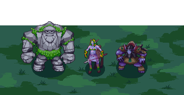 Mountain Giant, Dryad, and Druid of the Claw