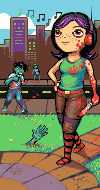Beautiful day out, innit? (bloodgrope threesome) :: Pixel Art from <i>Collabs</i>