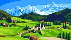Dolomiti/pixelart