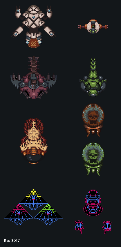 Boss/Mid Boss - From Defender of Ekron Mini Game