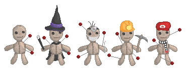 Customized voodoo dolls.