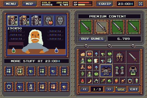 Rpg Interface Mockup Shop Pixeljoint Com