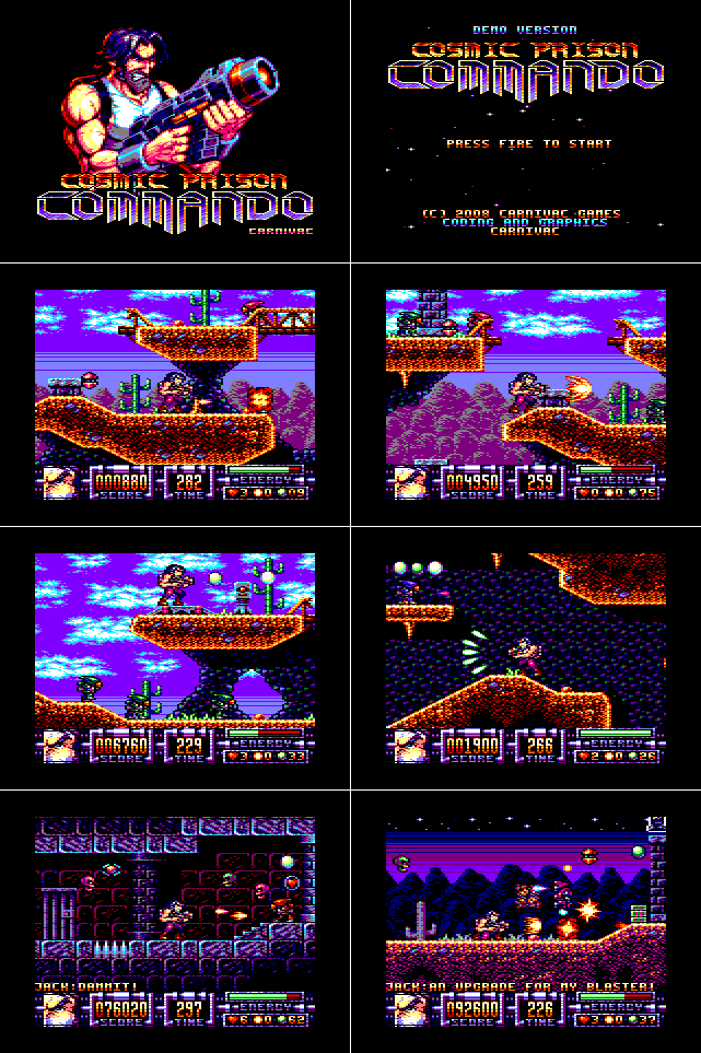 Cosmic Prison Commando screens