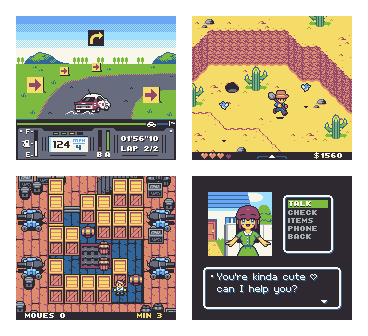 Dusty game mockups