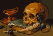 "Master study of ""Still life with a skull and a writing quill"""