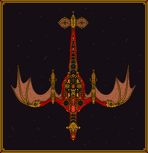 Red galactic dragon war titan mothership