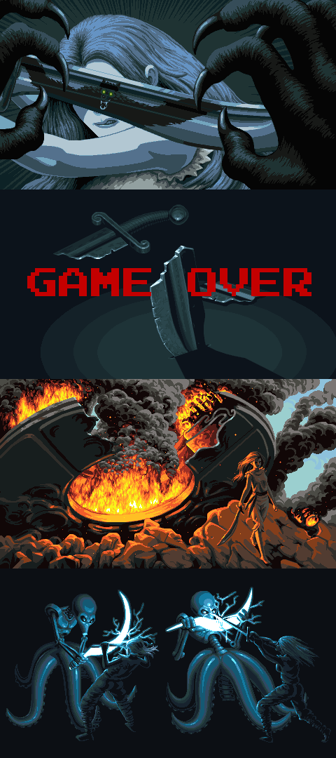 Driven Out Story Panels/pixelart