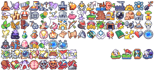 Skill icons for Forager