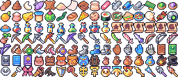 Item icons for Forager