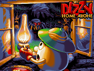 Fantastic Dizzy Home Alone title screen