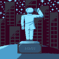 Statue and Stars
