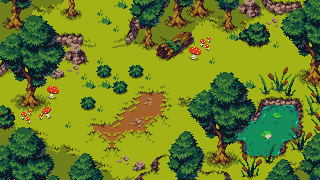 Topdown Fantasy Forest/pixelart