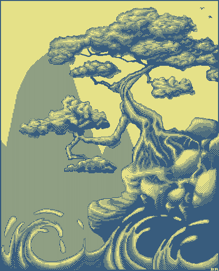 2 color pixel art
