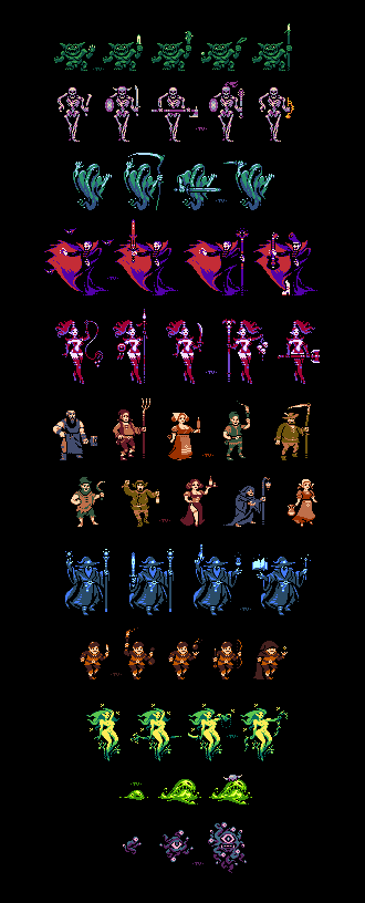 Classic RPG Units Pool/pixelart