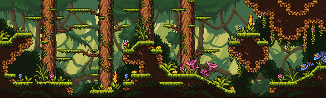 Fantasy Jungle/pixelart