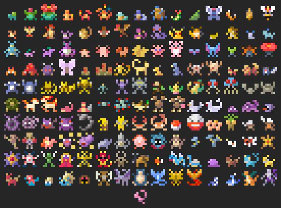 pixel art 8x16
