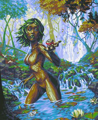 Pond Dryad/pixelart
