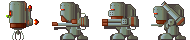 A bunch of robot sprites