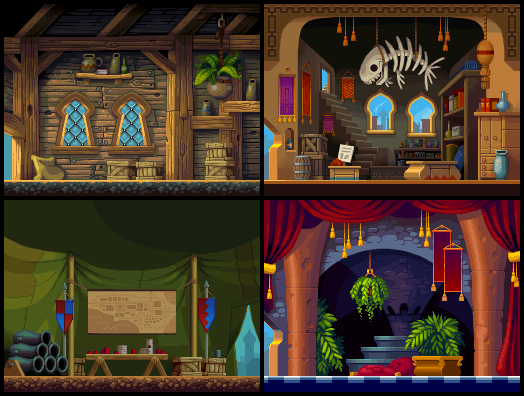 Shantae: Risky's Revenge town backgrounds
