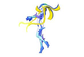 Final Fantasy Shiva Pixel Art