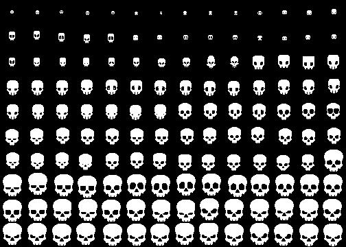 140 1 bit Pixel Skulls PixelJoint