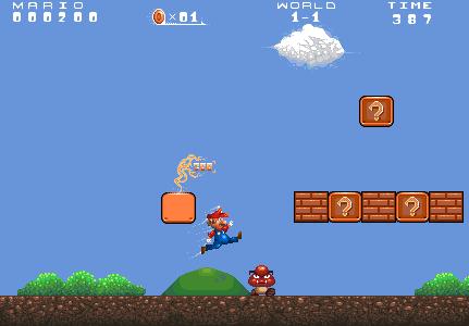 Super Mario Bros Remake Scene At Pixeljointcom
